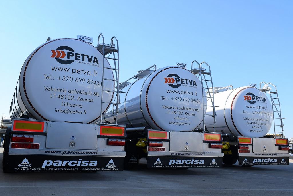 Petva kroviniu gabenimas cisternomis