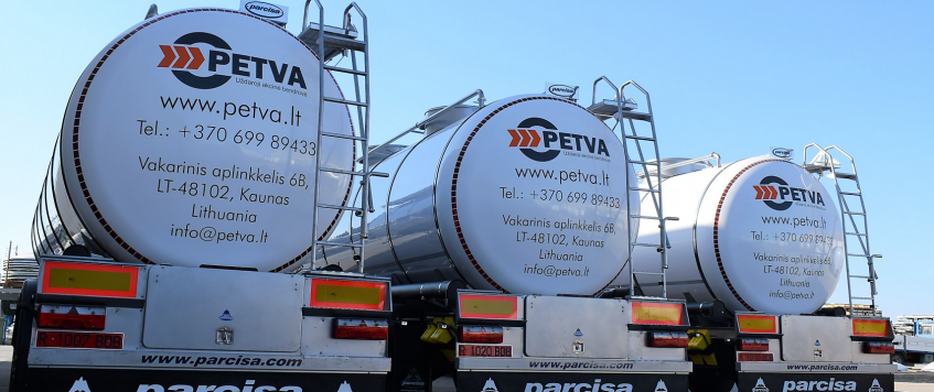 PETVA UAB Uses Tank Trucks of Highest Category